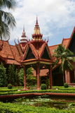 National museum in Phnom penh. Patio of the national museum in phnom penh, cambodia Royalty Free Stock Images