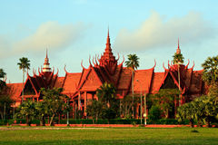 National museum in Phnom Penh. At dawn Royalty Free Stock Photo
