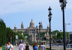 National Museum in Placa De Espanya in Barcelona Stock Photography