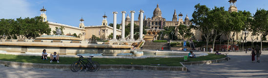 National Museum in Placa De Espanya, Barcelona Royalty Free Stock Photo