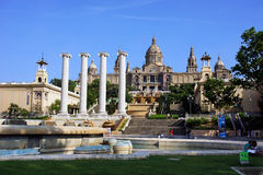 National Museum in Placa De Espanya in Barcelona Royalty Free Stock Photography