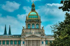 National museum in prague stock photos