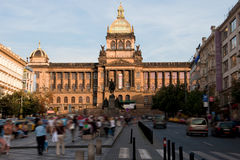 National museum in Prague. View of a national museum In Prague, the Czech Republic royalty free stock photo
