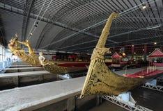 Bangkok, Thailand - August 12, 2017: Thai royal barges in National Museum of Royal Barges, Bangkok, T Stock Photography