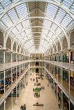 Indoor sight in The National Museum of Scotland in Edinburgh on a sunny summer day. royalty free stock photo