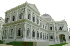 National Museum of Singapore. The facade of the newly renovated National Museum of Singapore Royalty Free Stock Photo