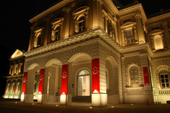 National Museum of Singapore. Night shot of the Singapore National Museum Stock Photos