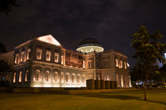 National Museum of Singapore night Royalty Free Stock Image