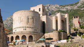 National Museum Skanderbeg - Kruja. National Museum Skanderbeg and Clock Tower in the castle of Kruja, Albania royalty free stock image