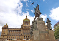National museum and St. Wenceslas monument, Prague Stock Images