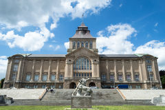 The National Museum in Szczecin - facade. POLAND, SZCZECIN - 30 JUNE 2014: The National Museum in Szczecin - facade royalty free stock photo