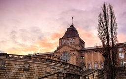 National Museum in Szczecin at sunset Stock Photos