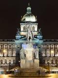 National museum Wenceslas Square (Vaclavske Namesti) Stock Photography