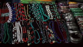 National Nepalese jewelry. Jewelry, which are selling in the gift shop stock footage