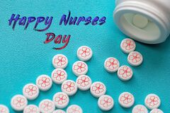 National Nurses Day. Postcard with thanks