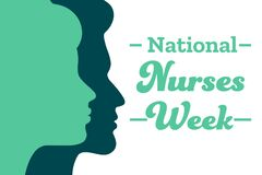 National Nurses Week. Holiday concept. Template for background, banner, card, poster with text inscription. Vector EPS10