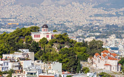 The National Observatory on top of Nymphs hill in Thiseio, Athens, Greece Stock Image