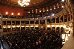 National Opera Hall. Bucharest, Romania - full of people