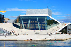 National Opera Theatre in Oslo, Norway Royalty Free Stock Photo