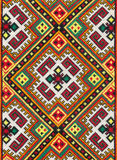 National ornament on textile, photo of ethnic decoration, handmade needlework royalty free stock images