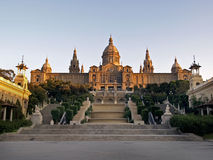 National palace. Of Catalonia in Barcelona Stock Photos