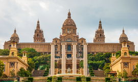 National Palace in Barcelona Stock Photo