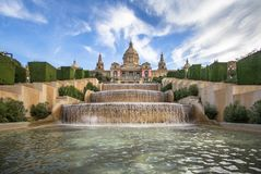 National Palace of Barcelona on mountain Montjuic Stock Photo