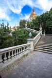 National Palace of Barcelona on mountain Montjuic Stock Photography