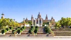 National Palace of Barcelona on mountain Montjuic, Spain Stock Photo