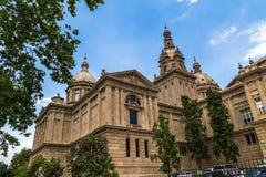 National Palace Barcelona. Of Spanish Renaissance architecture Royalty Free Stock Photos