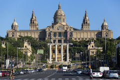 National Palace - Barcelona - Spain Stock Image