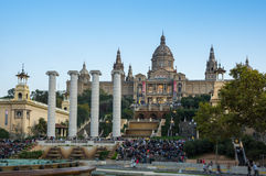 The National Palace in Barcelona Stock Photography