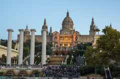 The National Palace in Barcelona Royalty Free Stock Images