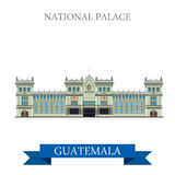 National Palace of Culture in Guatemal vector illu Royalty Free Stock Photos