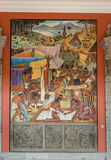 The National Palace with the famous mural The Tarascan or Purepechan culture of Michoacan by Diego Rivera - Mexico City - Mexico Royalty Free Stock Image