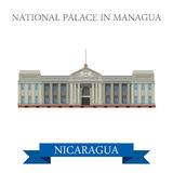 National Palace in Managua Nicaragua vector flat attraction Stock Photo