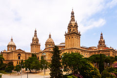 National Palace of Montjuic in Barcelona Royalty Free Stock Image