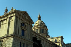 National Palace of Montjuic in Barcelona. Stock Photo