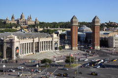 National Palace - Montjuic district - Barcelona Stock Photo