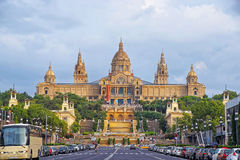 National Palace on Montjuic hill in Barcelona in Spain stock image
