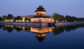 National Palace Museum. The National Palace Museum in Beijing, China at night stock photos