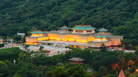 National Palace Museum at night. National Palace Museum in Taipei, Taiwan royalty free stock images