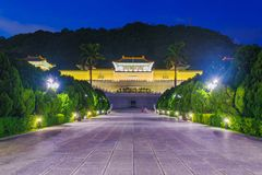 National Palace Museum night view Stock Image