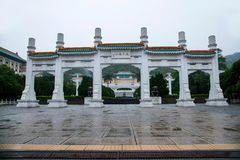 The National Palace Museum in Taipei arch rain Stock Photos