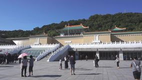 The National Palace Museum in Taiwan. stock video