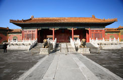 National Palace the Ning Shou door Beijing China Stock Image