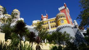 The National Palace of Pena in the style of romanticism, Sintra, stock image