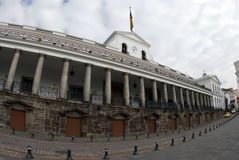 National palace on plaza grande quito ecuador. Presidential palace government office on plaza grande Royalty Free Stock Images