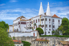 National Palace Of Portugal In Sintra Stock Photos
