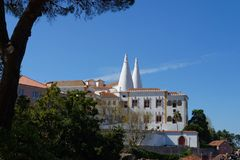 National Palace of Sintra, Portugal. National Palace of Sintra in Sintra town, Portugal Royalty Free Stock Photo